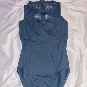 light blue mirella leotard